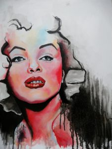 Painting inspired by Marilyn Monroe