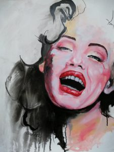 Porttait painting inspired by Marilyn Monroe