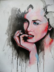 Painting inspired by Marilyn