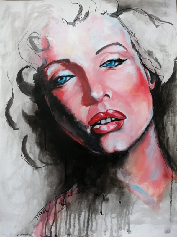 Portrait inspired by Marilyn Monroe
