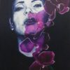 Contemporary painting with orchids