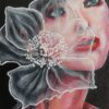 Lift me up, expressive portrait and flower