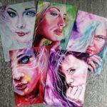 Set of 5 artcards